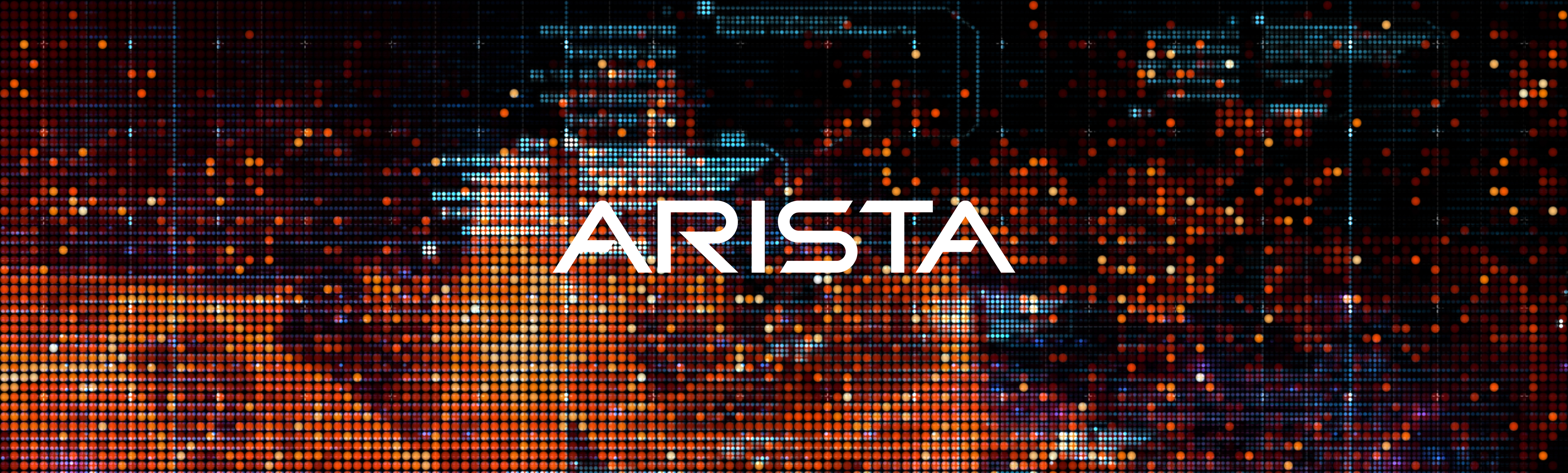 orange pixels cropped with Arista logo